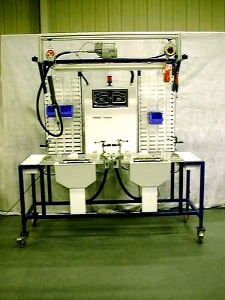 Plastic glove box assembly equipment